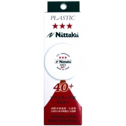Nittaku Sha 40+ 3*** pack 3 Bolas Plástico