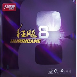 Borracha DHS Hurricane 8 Mid Hard - Top Ténis de Mesa